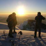 Gipfel Cotopaxi mit Morgensonne