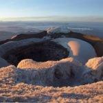 Krater des Cotopaxi in der Morgensonne