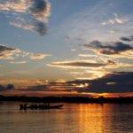 Sonnenuntergang im Cuyabeno
