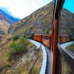 Blick auf den Zug