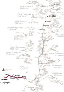 Karte Tren Dulzura Ecuador