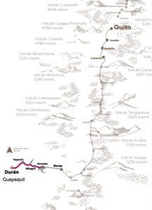 Karte Tren del Cacao Ecuador