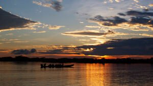 Siona Lodge - Lagune Sonnenuntergang